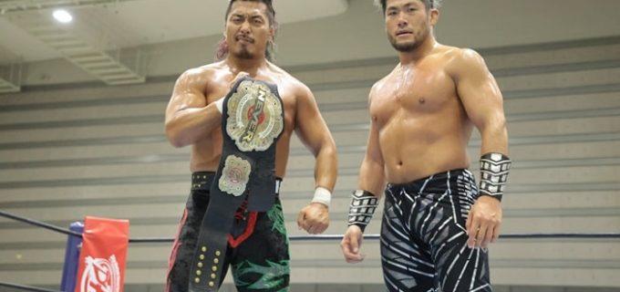 【新日本】後藤&YOSHI-HASHIを破り、鷹木&SANADAが単独首位!SANADA「今年の『WORLD TAG LEAGUE』、隣のTKGと優勝します!」<11.24福島大会>