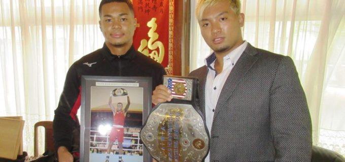 【JUST TAP OUT】田村ハヤトがボクシング東京五輪代表・岡澤セオンに刺激受け、世界ヘビー級王者として越年し元日防衛戦の敢行を誓った!