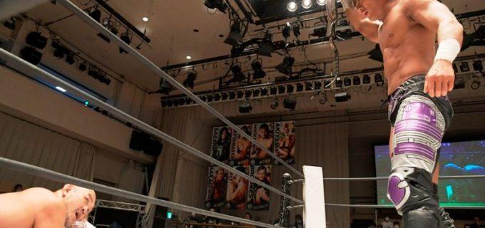 【DDT】KO-D無差別級王者・遠藤哲哉が「D王」開幕戦で秋山準を破り、全勝優勝を宣言!
