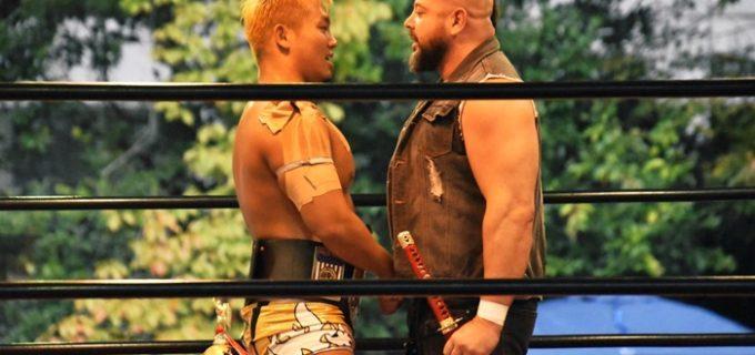 【ZERO1】<11.3靖国神社奉納プロレス>世界ヘビーはハヤトが防衛、ジャクソンが挑戦表明!火野&ストームが新タッグ王者に