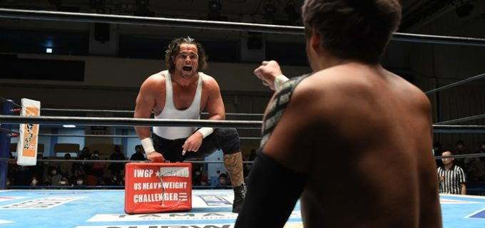 【新日本】ジュースがIWGP USヘビー級王座挑戦権利証保持者のKENTAを挑発