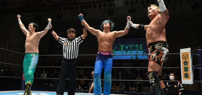 【新日本】IWGPジュニアタッグ挑戦表明の田口&ワトが王者組に勝利!田口「『受けてやる問題』じゃないよ、もう。『挑戦してください』問題だよ」