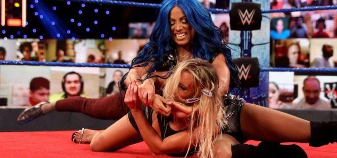 【WWE】カーメラが2週連続のシャンパンボトル弾でサーシャをKO
