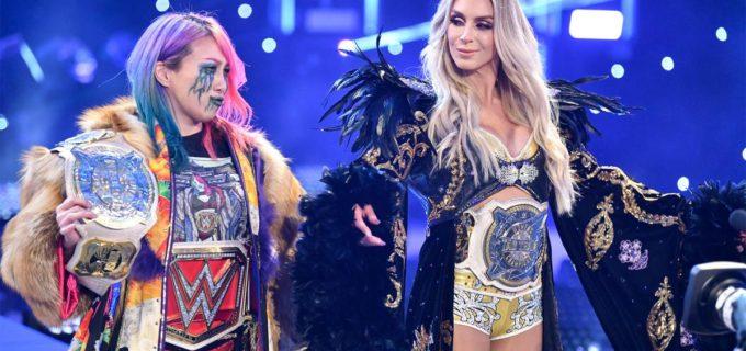 【WWE】アスカが介入妨害できずシャーロットは消化不良の反則裁定!新旧タッグ王者の遺恨が激化
