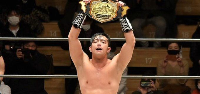 【2AW】吉田綾斗が入江茂弘を撃破で無差別級5度目の防衛に成功!「2AWを自分が引っ張っていきます」