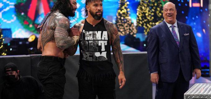 【WWE】ユニバーサル王者レインズが手錠されたオーエンズを嘲笑って王座防衛