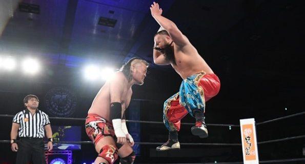 【新日本】「余のものだ、わかったか!」天山広吉がグレート-O-カーンとのモンゴリアンチョップ封印マッチに敗れる!