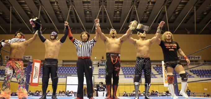 【新日本】5対5マッチ勝利後、鷹木「今回の手段はNEVER戦、目的はプロレス界のエース、逸材と呼ばれた男、棚橋から完全に3カウントを奪うことだ」と宣言