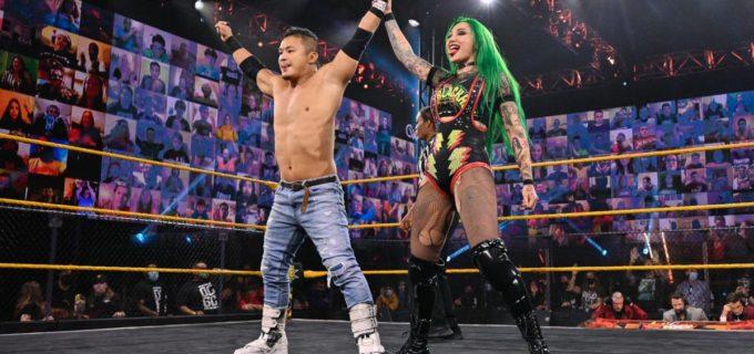 【WWE】KUSHIDAがミックスタッグ戦でNXT北米王者ガルガノから3カウント奪取