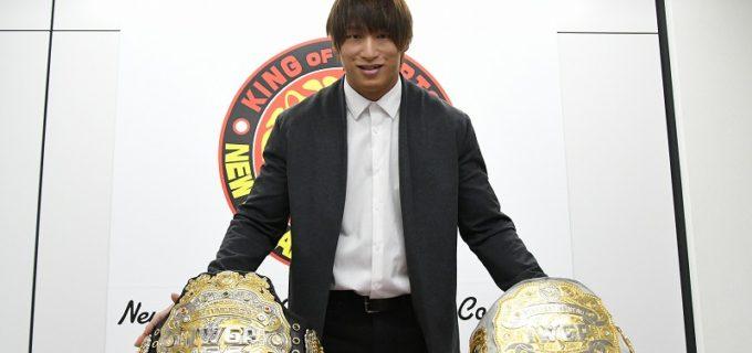 【新日本】二冠王者・飯伏幸太「2つのベルトを一つにしたい。絶対おもしろいことになる」