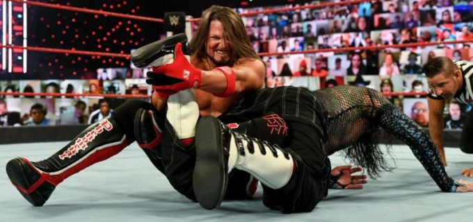 【WWE】マッキンタイア、AJスタイルズがWWE王座エリミネーション・チェンバー戦の前哨戦で大暴れ