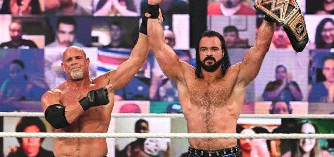 【WWE】マッキンタイアがゴールドバーグとの激闘を制してWWE王座を防衛