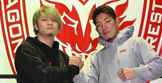 【ドラゴンゲート】ドリームゲート王座次期挑戦者の石田凱士が K-1 戦士の弘輝と合同練習「次のチャンピオンは確実に俺や!」