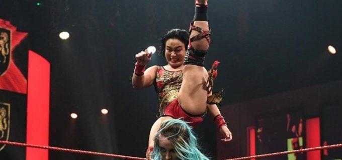 【WWE】里村明衣子がダニー・ルーナにスコーピオライジング弾で快勝
