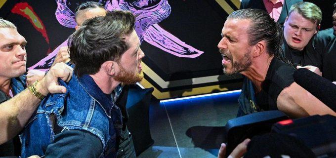 【WWE】仲間割れしたアダム・コールとカイル・オライリーが調印式で一触即発