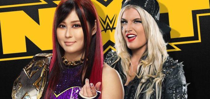 【WWE】紫雷イオとトニー・ストームがNXT女子王座戦を前に挑発合戦