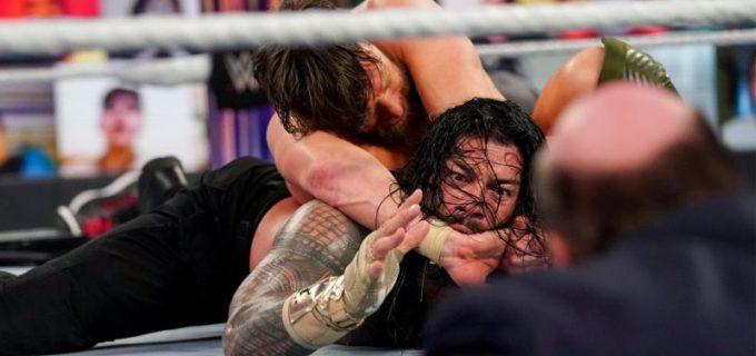 【WWE】王者レインズがタップアウトもエッジの襲撃が味方して王座防衛に成功