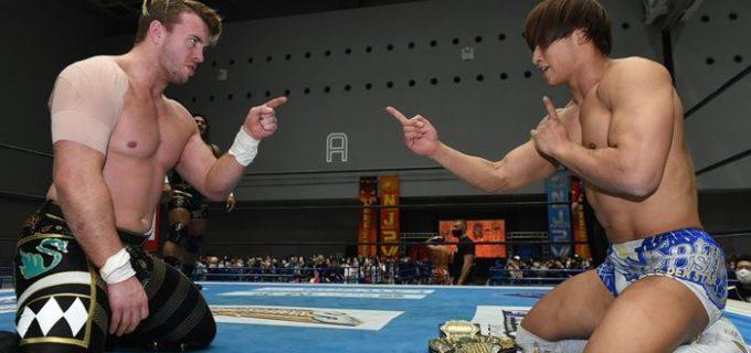 【新日本】IWGP世界ヘビー前哨戦はオスプレイが勝利し、飯伏を挑発「飯伏、俺はウィル・オスプレイだ。俺はお前とはレベルが違う!」