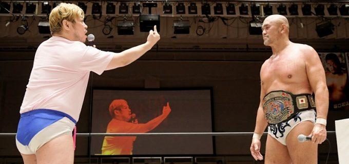 【DDT】KO-D無差別級王者・秋山準が樋口和貞の挑戦を退け、4・11後楽園で男色ディーノを迎撃へ!「俺はディーノをリスペクトしてる」