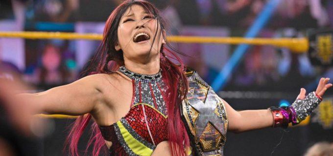 【WWE】紫雷イオが宿敵トニー・ストームとの一騎打ちを制して王座防衛次期挑戦者にラケル・ゴンザレスを指名