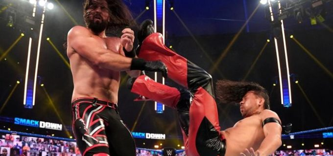 【WWE】セザーロが中邑を救出してロリンズとのWM戦を受諾