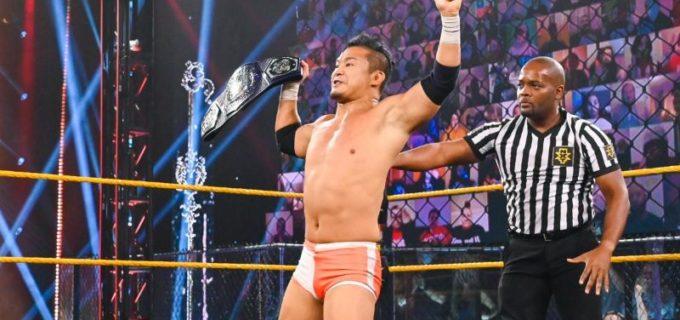 【WWE】KUSHIDAがついにWWEの王座を初戴冠「ガムシャラにしがみついたこの2年…獲ったぞー!」