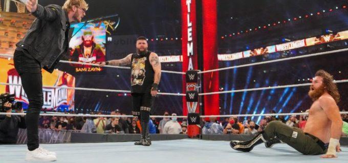 【WWE】ケビン・オーエンズがYouTuberローガン・ポールをスタナー葬