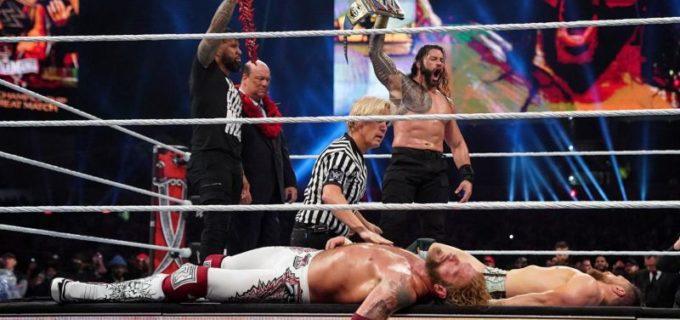 "【WWE】""絶対王者""ローマン・レインズが祭典WMで三つ巴を制して王座防衛に成功"