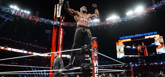 【WWEレッスルマニア】ラシュリーが祭典WMでマッキンタイアを返り討ちにして王座防衛