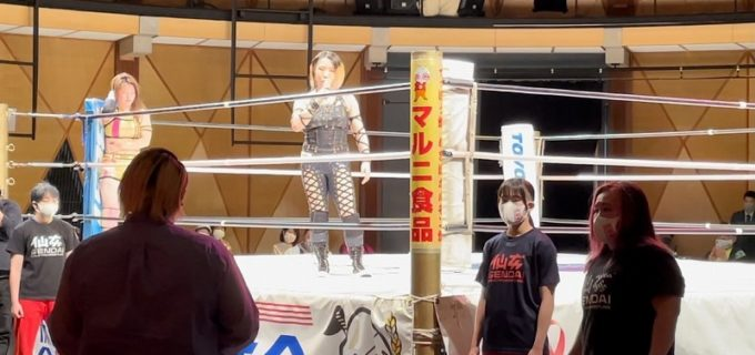 【仙女】マーベラスの響が4.10大阪大会に乱入!「ちょっとミンチに興味があるんで(ハードコア)やってみることにしました」
