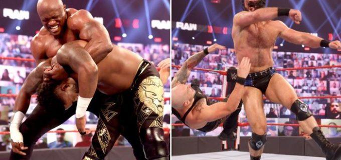 【WWE】マッキンタイアと王者ラシュリーが祭典「レッスルマニア37」を前に舌戦&睨み合い