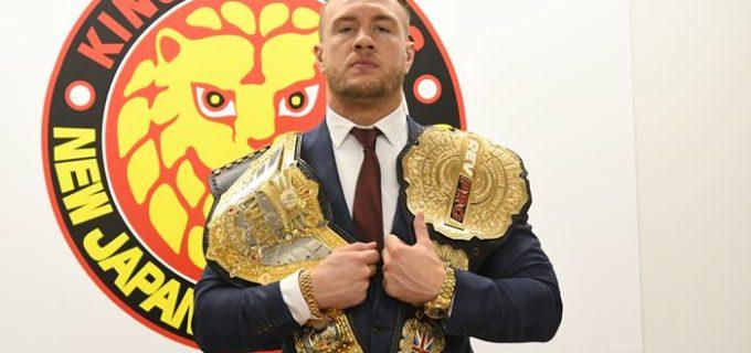 【新日本】新IWGP世界王者オスプレイが一夜明け会見「同じイギリスのWWE世界ヘビー級チャンピオンであるドリュー・マッキンタイアと対戦が叶うなら闘ってみたい。」