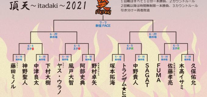【BASARA】シングルトーナメント「頂天」を開催!瀧澤晃頼の代替出場選手として大日本・佐藤孝亮が出場
