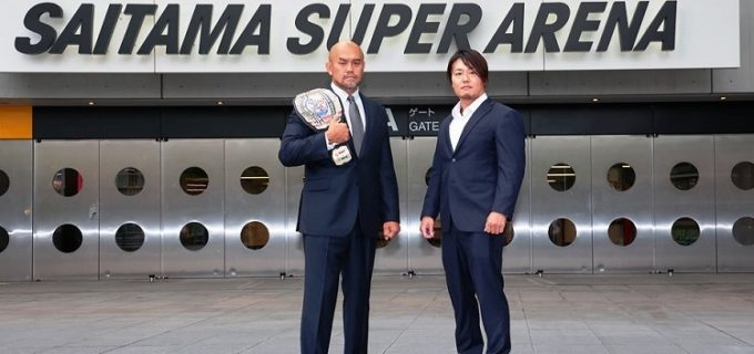 【サイバーフェス6・6さいたまSA】冷静なKO-D無差別級王者・秋山準の前で、挑戦者・HARASHIMAが「絶対負けられない。しっかり結果を残します」とベルト獲り誓った!
