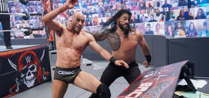 【WWE】王者レインズがセザーロをギロチンで失神KOにして王座防衛