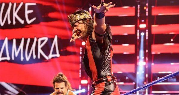 【WWE】中邑真輔がコービンとのキング対決を制して次週、王冠争奪戦へ