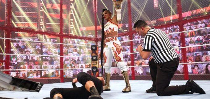 "【WWE】""EST""ビアンカがベイリーとのHIAC戦を制して王座防衛に成功"