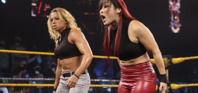 【WWE】紫雷イオがNXT女子タッグ王者に襲撃されるもゾーイ・スタークと共に返り討ち