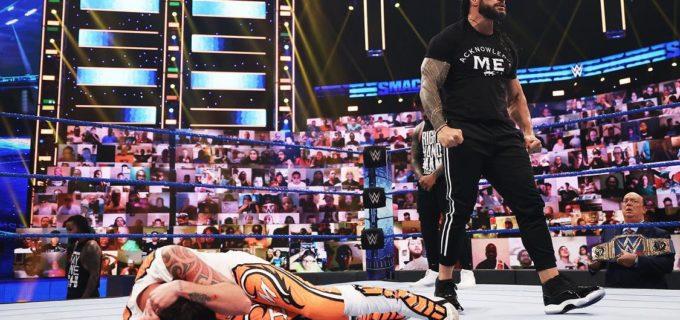 【WWE】ミステリオ親子とウーソズがタッグ王座2連戦もローマン・レインズが乱入