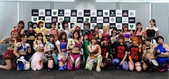 サイバーフェス6・6さいたまSAに向け、東京女子プロレス24選手が決起!
