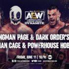 【AEW】6.11 ダイナマイト ダークオーダーと手を組んだハングマン・ペイジが勝利しビール乾杯