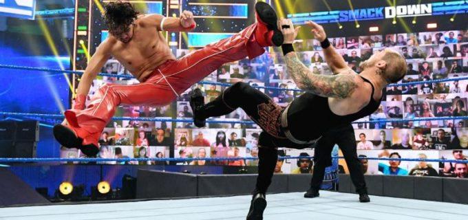 【WWE】キング中邑がコービンを下してMITBラダー戦出場権を獲得「俺がMITBブリーフケースを掴む」