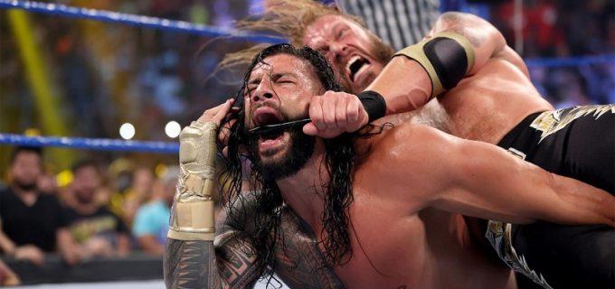 【WWE】エッジが6人タッグ前哨戦で敗戦も王者レインズを鉄パイプ・クロスフェイス葬