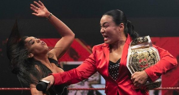 【WWE】新NXT UK女子王者里村明衣子が王座挑戦を表明するアメールに一撃「話はもういい。試合してやる」