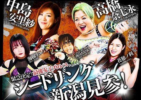 【SEAdLINNNG】仙女・岩田美香、愛海が初参戦!7.22新潟大会対戦カード決定!