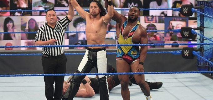 """【WWE】""""WWEのキング""""中邑真輔がタッグ戦で不運続きのコービンを撃破!次週、MITBラダー戦予選で激突"""