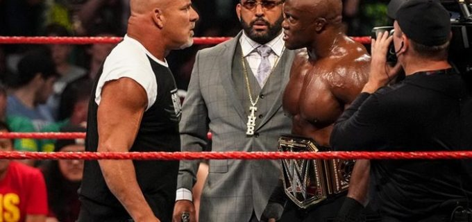 "【WWE】""超人類""ゴールドバーグがサプライズ登場!「次は俺だ」と王者ラシュリーにWWE王座挑戦を表明"