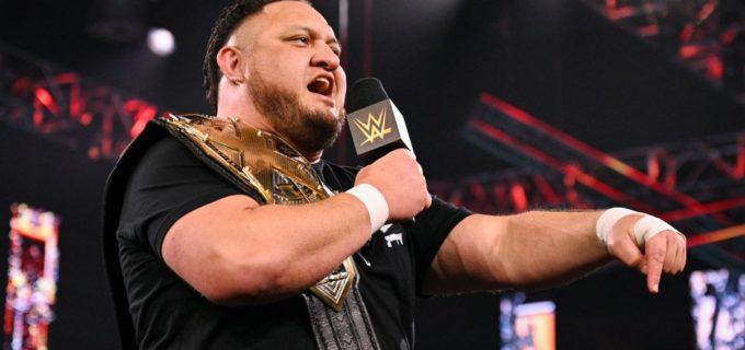 【WWE】新王者サモア・ジョーがピート・ダン、LAナイトらと乱闘となってNXT王座戦線が混沌