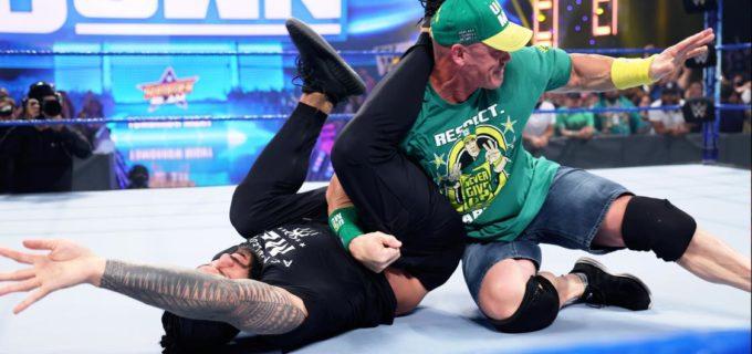 【WWE】ジョン・シナがPPV直前に王者ローマン・レインズを丸め込み「1・2・3!見えっこねぇ!明日会おう」