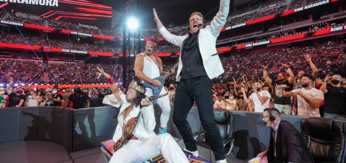 【WWE】新IC王者中邑真輔がPPV「サマースラム」でブーグスやマカフィーと王座戴冠を祝う!